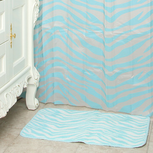 14 Pcs bath accessories for shower curtain with mat sets