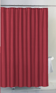 13Pcs Shower curtain set - plain polyester metal five beads iron shower curtain hook set