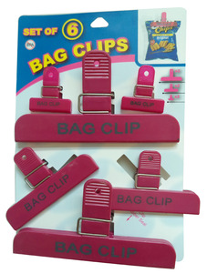 Large Chip Clip Set, Pack of 3 Size for plastic sealing bag clip