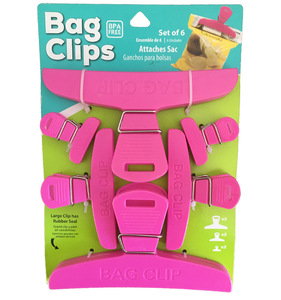 Plastic sealing clip strong food clip pack of 6