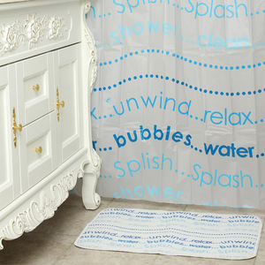 18 pcs Wholesale new quality waterproof and mildew proof shower curtain pvea 180*180 can be customiz