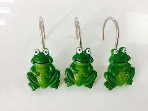 12pcs Frog prince hook up bath curtain resin hook up curtain hook up hand made hook up frog prince