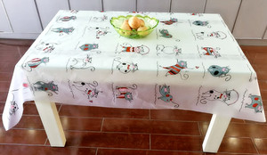 PEVA printing tablecloth,  fashion popular peva tablecloth any size