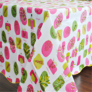 PEVA WITH FLANNEL  printing tablecloth,   popular peva tablecloth  132*178 cm or any size